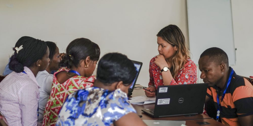 Hannah works with Tanzanian colleagues on a research study exploring barriers for pregnant adolescent girls in accessing health services.